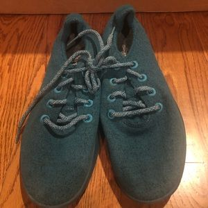 Allbirds men's wool runners teal sz 9